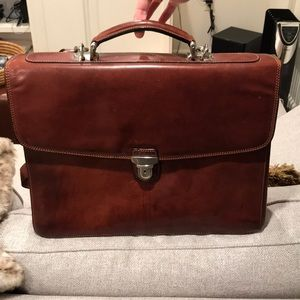 Tony Perotti Italian leather briefcase